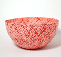 Big red Shweshwe bowl
