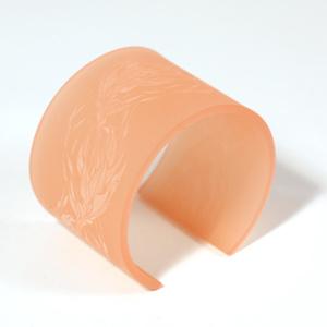 Armband Flame, rosa 50 mm
