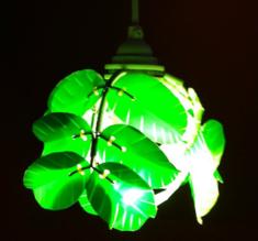 Heath Nash - Leaf Laurel mini pendant, grön