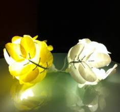 Heath Nash - Leaf Laurel mini bordslampa, gul