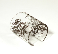 Armband Morris blomma, transparent, 80 mm