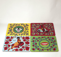 He who marries beauty marries trouble, set of 4 placemats