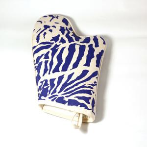 Botanical Zebra Ovenglove, Pacific blue