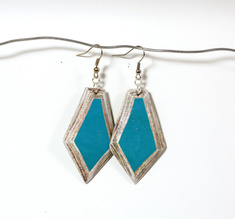 Diamond Earring Turquiose