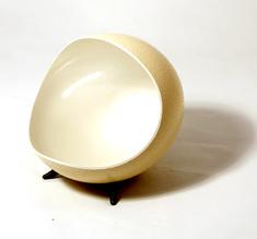 Dark grey ostrich egg pearl white