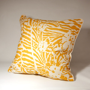 Botanical Zebra Cushion cover, Butternut