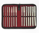 Dilator set (14 sizes) complete in luxury case