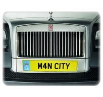 Manchester City registreringsskylt