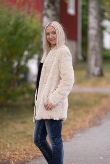 Tina  Wodstrup - Fake Fur Coat Beige