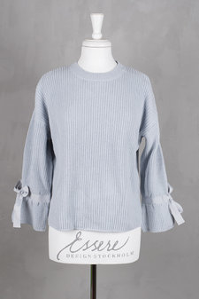 Isay - Thea Knit Blouse Light Blue