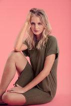 Culture - Kajsa T-shirt Dress Deep Lichen Green