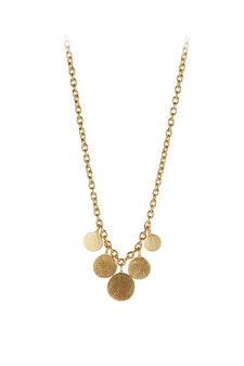 Pernille Corydon - Mini Coin Necklace Gold