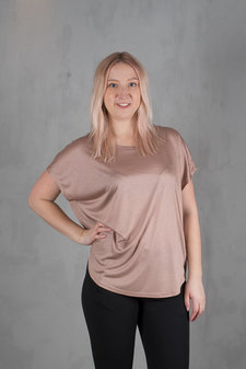 Isay - Nugga Viscose T-shirt Smoked Rose