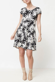 Isay - Kalla Jersey Dress Palm Print