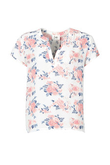 Isay - Annica V-Neck Blouse Flower Power