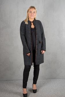 Isay - Loretta Knitted Jacket Dark Grey Melange