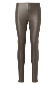 Plus Fine - Amy Leather Leggings Taupe