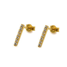 Syster P - Strict Sparkling Bar Earrings Gold