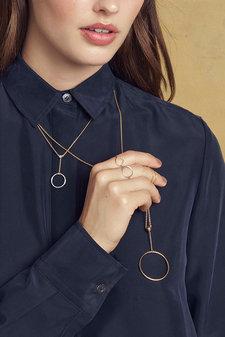 Pernille Corydon - Corona Necklace 80 cm Gold