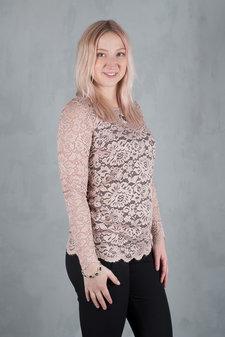 Rosemunde - Lace T-shirt ls Vintage Powder