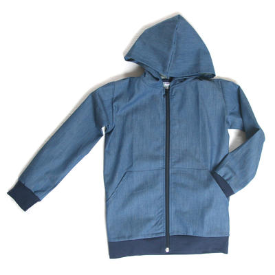 Hoodie, Light blue Denim