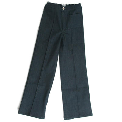 Trousers Flare, Dark Blue Denim