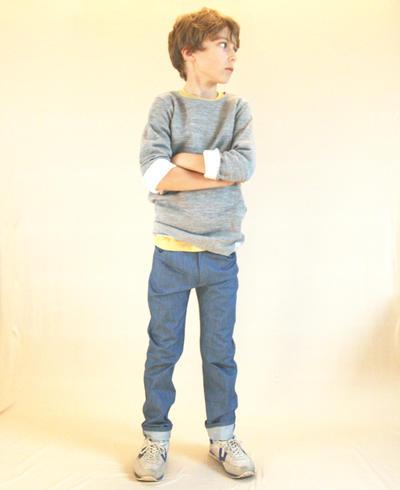 Trousers Slim, Light Blue Denim