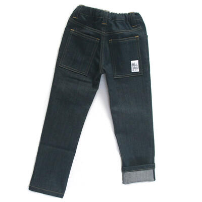 Trousers Slim, Dark Blue Denim