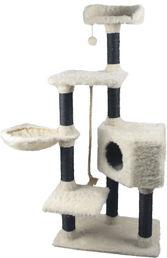 Klösmöbel vit / svart med hängmatta