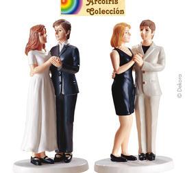Lesbiskt par 2 Caketopper