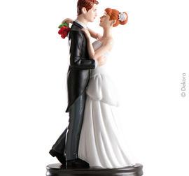 Waltz dansande Brudpar 21 cm