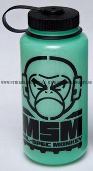 MSM Nalgene 32oz Wide Water Bottle Green Glow