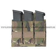 Warrior triple 9mm pistol pouch, MC