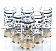 12 Gauge 20ml Shotgun shell shot glasses, 6st, Vit