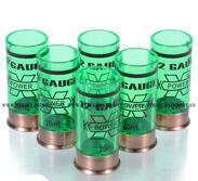 12 Gauge 20ml Shotgun shell shot glasses, 6st, Grön