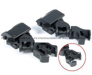 45 Degree Offset Flip Up Front & Rear Diamond Aperture Iron Sight