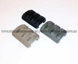 Rail cover med kabelränna, OD/Svart/Tan