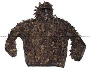 "Camo Suit ""leaves"", 3-parts, hunterbrown"