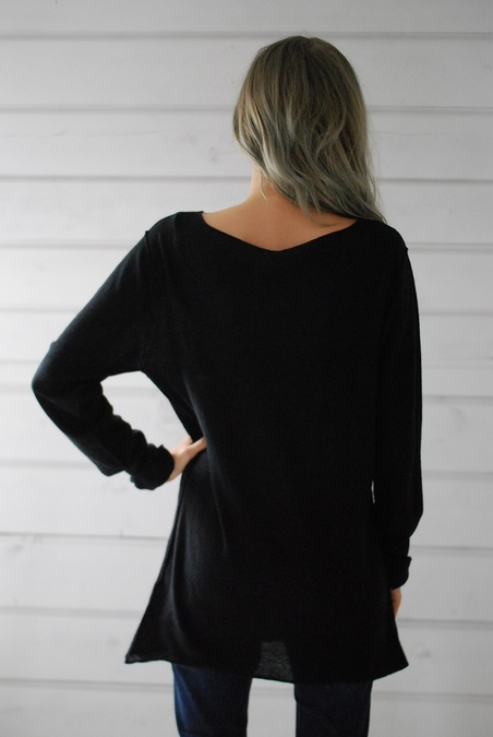 ANNA DIDI - CASHMERE  TOP - BLACK