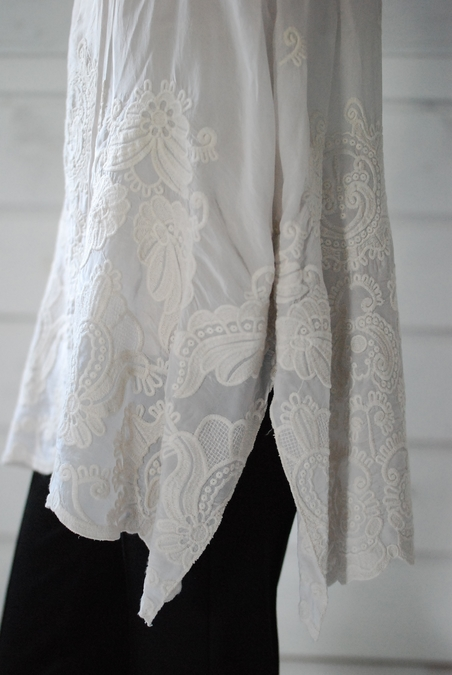 JOHNNY WAS - SILK TUNIC - NEW OAT