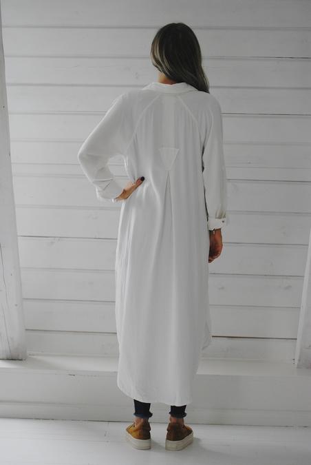 ONE TEASPOON - CLASSIC LONG SHIRT - WHITE