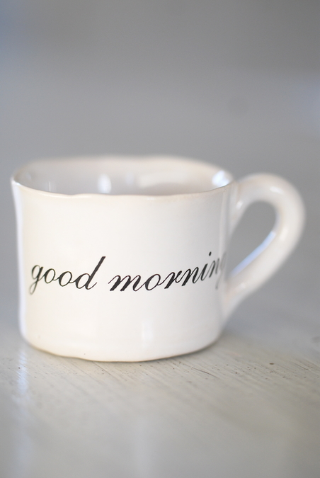 ESPRESSO CUP- GOOD MORNING
