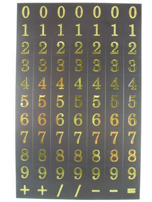 Siffror, 0-9, guld