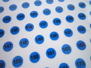Siffror, 1-204, blå