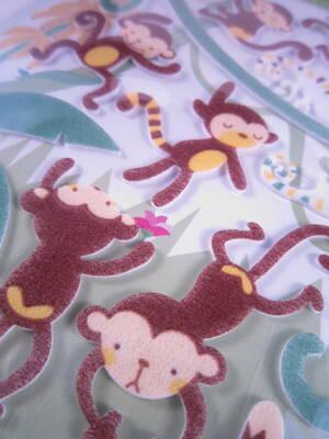 Monkeys, felt