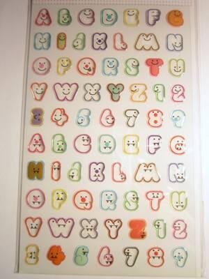 letters marshmallow, epoxy