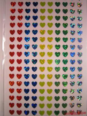 Små Hjärtan, olika färger, glitter 680st