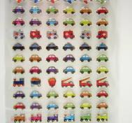 Cute Vehicles, glitter&epoxy