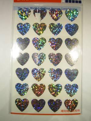 Hjärtan, glitter 112st