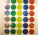 Cirkular dot, Various Colors, 16mm 160 pcs glitter